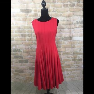 🆕Adrienne Vittadini Red Dress Size 10